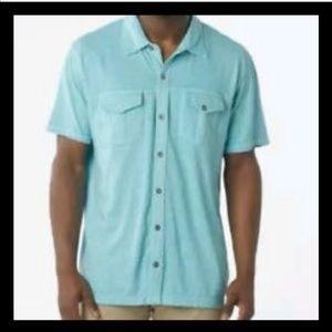 Prana Mens Hayes Button Shirt Organic Cotton